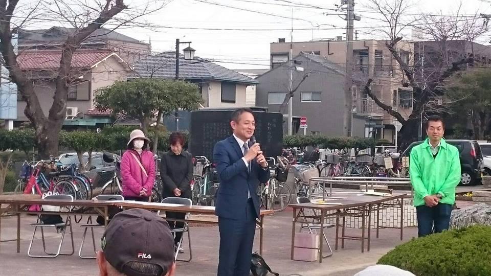 谷口ともみ県議会議員のグラウンドゴルフ大会に参加