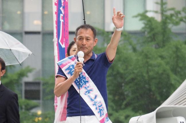 【愛知】「このままいいのかを、もう一度考えて欲しい」斉藤候補が枝野幹事長と訴え